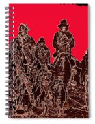 Geronimo And Family Surrendering Collage Number 1 C.s. Fly 1887-2012 Spiral Notebook