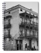 Gettin' By In New Orleans Bw Spiral Notebook