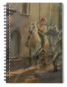 Getting Ready For The Bull Run, 2009 Pastel On Paper Spiral Notebook