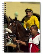 Getting Ready - Jockey And Horse For The Race Spiral Notebook