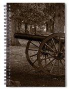 Gettysburg Cannon B W Spiral Notebook