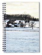 Gettysburg Farm In The Snow Spiral Notebook