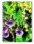 Geyser Jaimie And Golden Fantasy Orchids Spiral Notebook