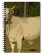 Ghost Cow 2 Spiral Notebook