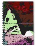 Ghost Cow Spiral Notebook