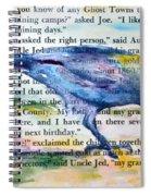 Ghost Crow Spiral Notebook