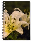Ghost Lilies Spiral Notebook