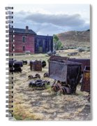 Ghost Mining Town Of Montana Spiral Notebook
