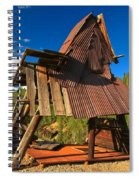 Ghost Of An A-frame Spiral Notebook