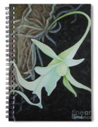 Ghost Orchid On A Palm Tree Spiral Notebook