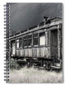 Ghost Passenger Train Coach Spiral Notebook