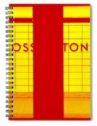 Ghost Station In Red And Yellow Spiral Notebook