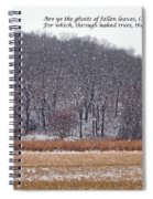 Ghosts Of Fallen Leaves Spiral Notebook