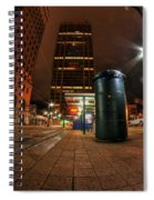 Giant Christmas Tree On Hsbc Tower Spiral Notebook