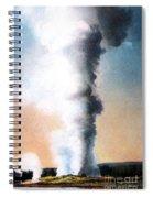 Giant Geyser Yellowstone Np  Spiral Notebook