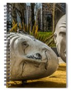 Giant Heads Spiral Notebook