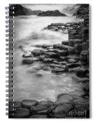 Giant's Causeway Waves  Spiral Notebook