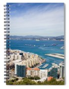 Gibraltar City And Bay Spiral Notebook