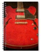 Gibson Es-335 Electric Guitar Body Spiral Notebook