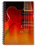 Gibson Es-335 On Fire Spiral Notebook