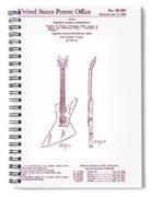 Gibson Explorer Guitar Patent Spiral Notebook