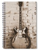 Gibson In Sepia Spiral Notebook