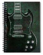 Gibson Sg Standard Green Grunge Spiral Notebook