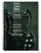 Gibson Sg Standard Green Grunge With Skull Spiral Notebook