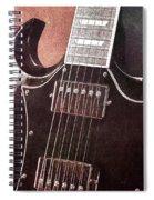 Gibson Sg Standard Red Grunge Spiral Notebook
