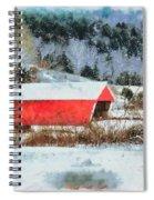 Gifford Covered Bridge In Winter Spiral Notebook