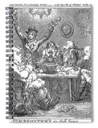 Gillray: Tavern, 1801 Spiral Notebook