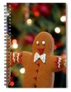 Gingerbread Men In A Line Spiral Notebook