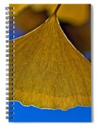 Gingko Leaf Losing Chlorophyll Spiral Notebook