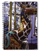 Giraffe Carousel Ride Spiral Notebook