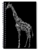 Giraffe Is The Word Spiral Notebook