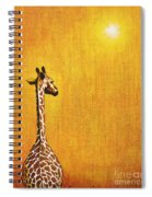 Giraffe Looking Back Spiral Notebook