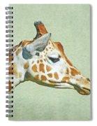 Giraffe Mug Shot Spiral Notebook