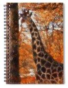 Giraffe Photo Art 03 Spiral Notebook
