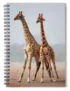Giraffes Standing Together Spiral Notebook