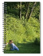 Girl And Dog On Trail Spiral Notebook