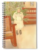 Girl And Rocking Chair Spiral Notebook
