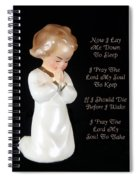 Girl Childs Bedtime Prayer Spiral Notebook