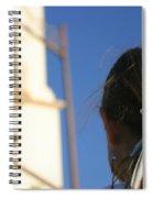 Girl Feather Headdress Spiral Notebook