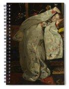 Girl In A Kimono Spiral Notebook
