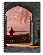 Girl In A Red Hat Spiral Notebook