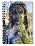Girl In Green Spiral Notebook