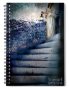 Girl In Nightgown On Circular Stone Steps Spiral Notebook