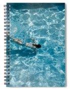 Girl In Pool Spiral Notebook