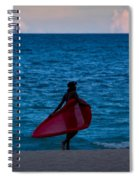 Girl In Red Float Spiral Notebook
