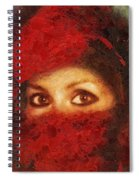 Girl In Red Turban Spiral Notebook